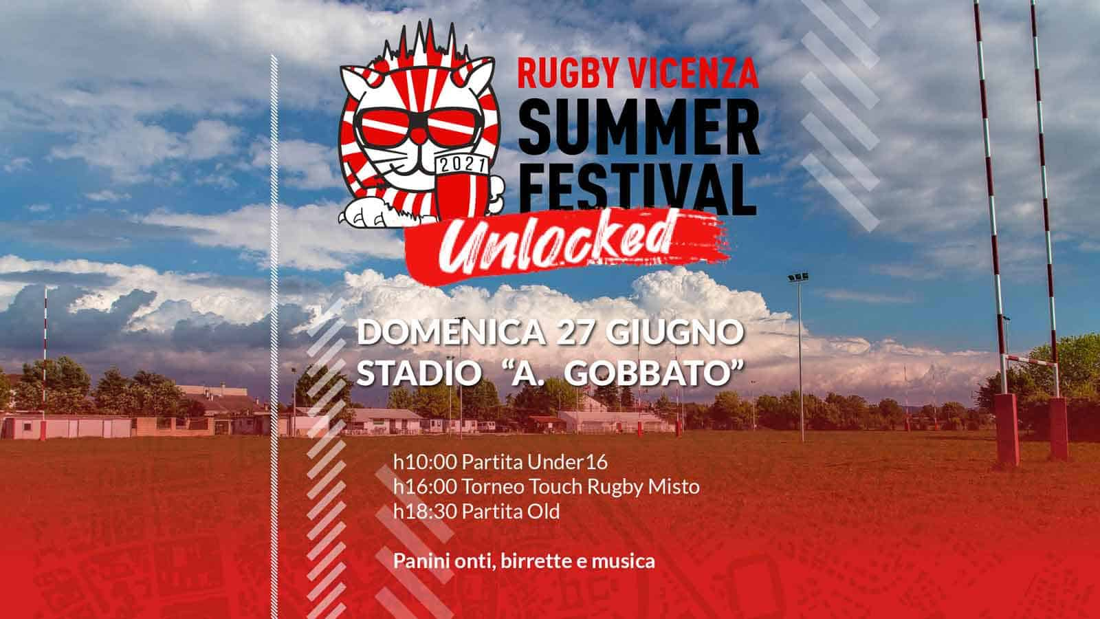 Rugby Vicenza Summer Festival Unlocked 2021