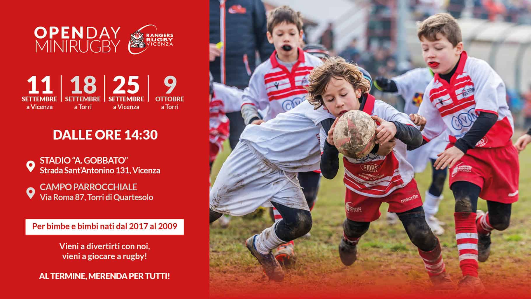 Open Day Rugby Vicenza 2021